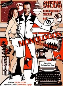 Monólogos cotidianos - Cartel - Teatro